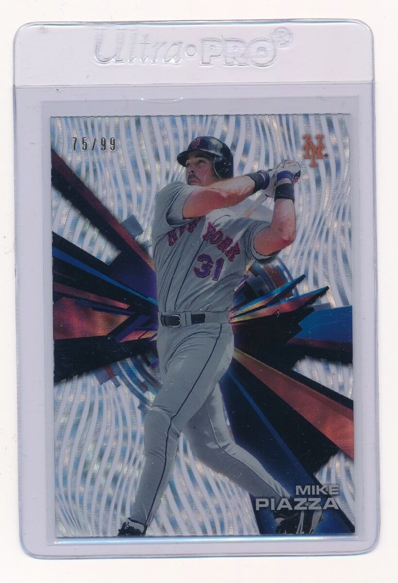 MIKE PIAZZA 2015 TOPPS HIGH TEK CONFETTI DIFFRACTOR 75/99 NEW YORK METS