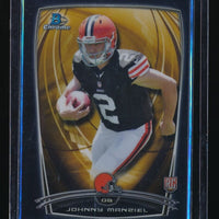 JOHNNY MANZIEL 2014 BOWMAN CHROME BLACK RC REFRACTOR 149/299 CLEVELAND BROWNS