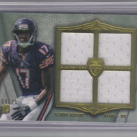 ALSHON JEFFERY 2012 TOPPS SUPREME ROOKIE QUAD RELIC RC JERSEY 4/25 CHICAGO BEARS