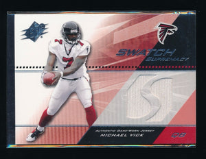 MICHAEL VICK 2004 SPX SWATCH SUPREMACY #SWMV WHITE JERSEY *ATLANTA FALCONS*