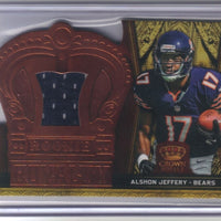 ALSHON JEFFERY 2012 CROWN ROYALE ROOKIE ROYALTY MATERIAL RC JERSEY BRONZE BEARS