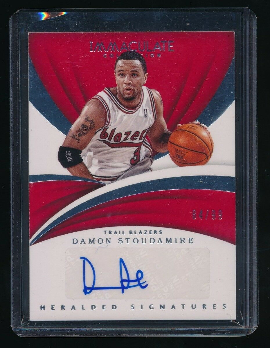 DAMON STOUDAMIRE 2017-18 IMMACULATE COLLECTION HERALDED SIGNATURE AUTO 84/99