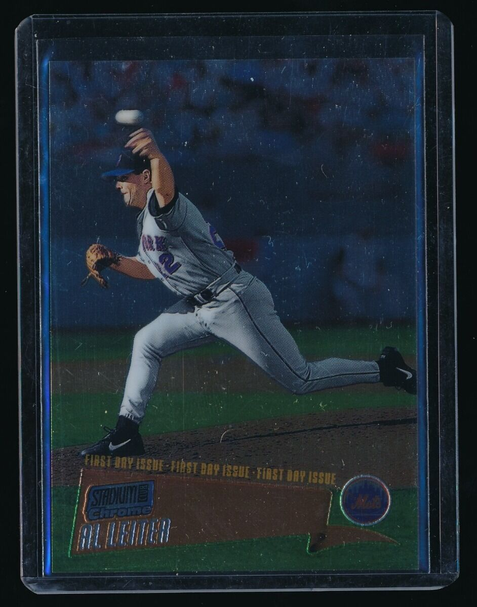 AL LEITER 2000 STADIUM CLUB CHROME FIRST DAY ISSUE 071/100 NEW YORK METS