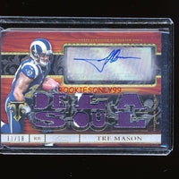 TRE MASON 2014 TOPPS TRIPLE THREADS GOLD RAMS PATCH AUTO RC #/18 *AUBURN TIGERS*
