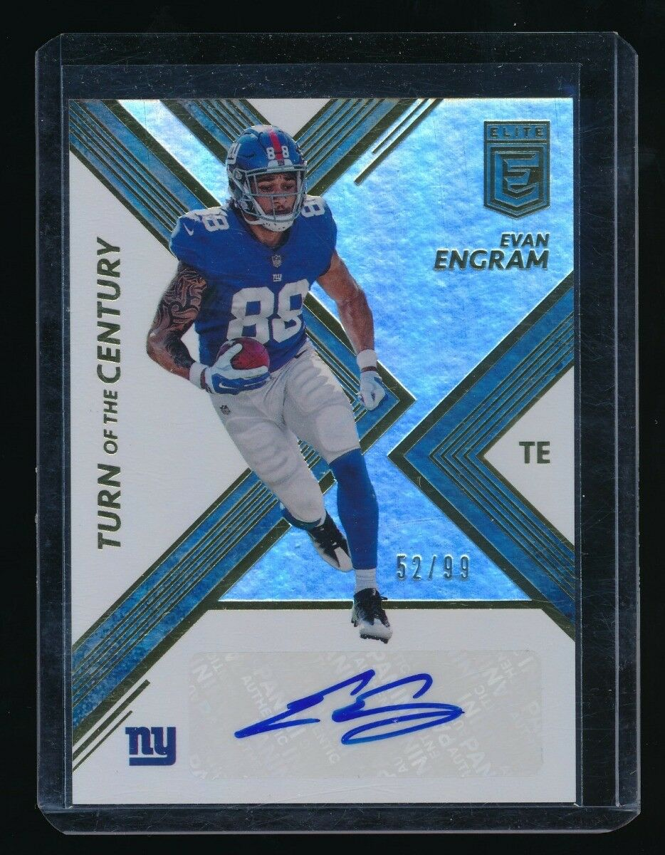 EVAN ENGRAM 2017 ELITE TURN OF THE CENTURY AUTOGRAPH RC AUTO 52/99 *GIANTS*