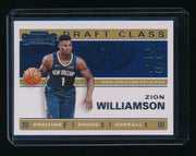 ZION WILLIAMSON 2019-20 PANINI CONTENDERS '19 DRAFT CLASS RC *PELICANS*