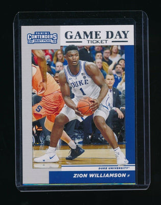 ZION WILLIAMSON 2019-20 PANINI CONTENDERS DRAFT PICKS GAME DAY TICKET *PELICANS*