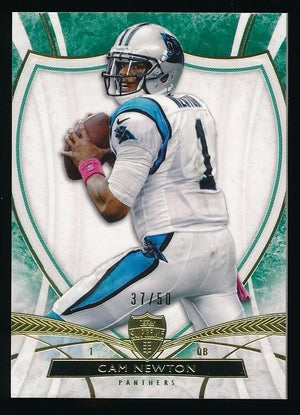 CAM NEWTON 2013 TOPPS SUPREME GREEN PARALLEL 37/50 *CAROLINA PANTHERS*
