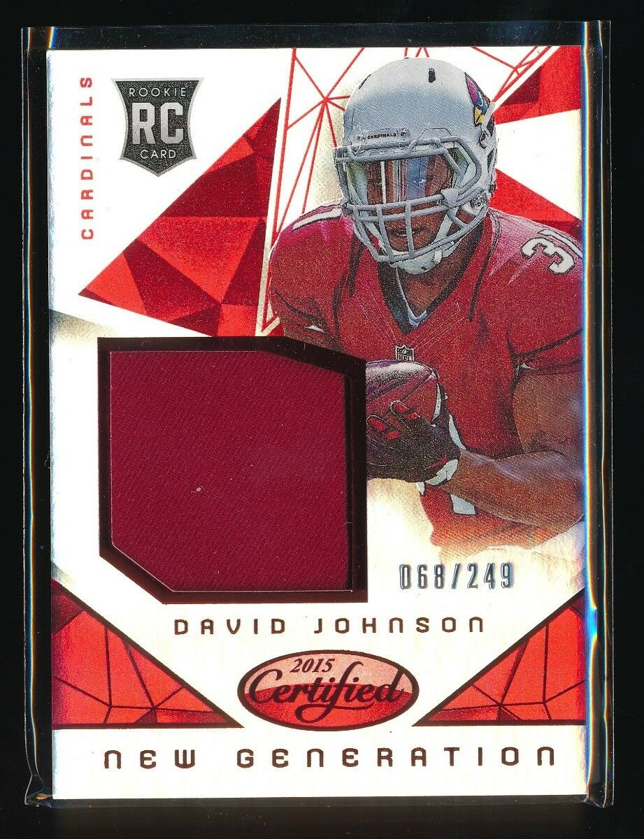 DAVID JOHNSON 2015 CERTIFIED NEW GENERATION RC JERSEY MIRROR RED 068/249