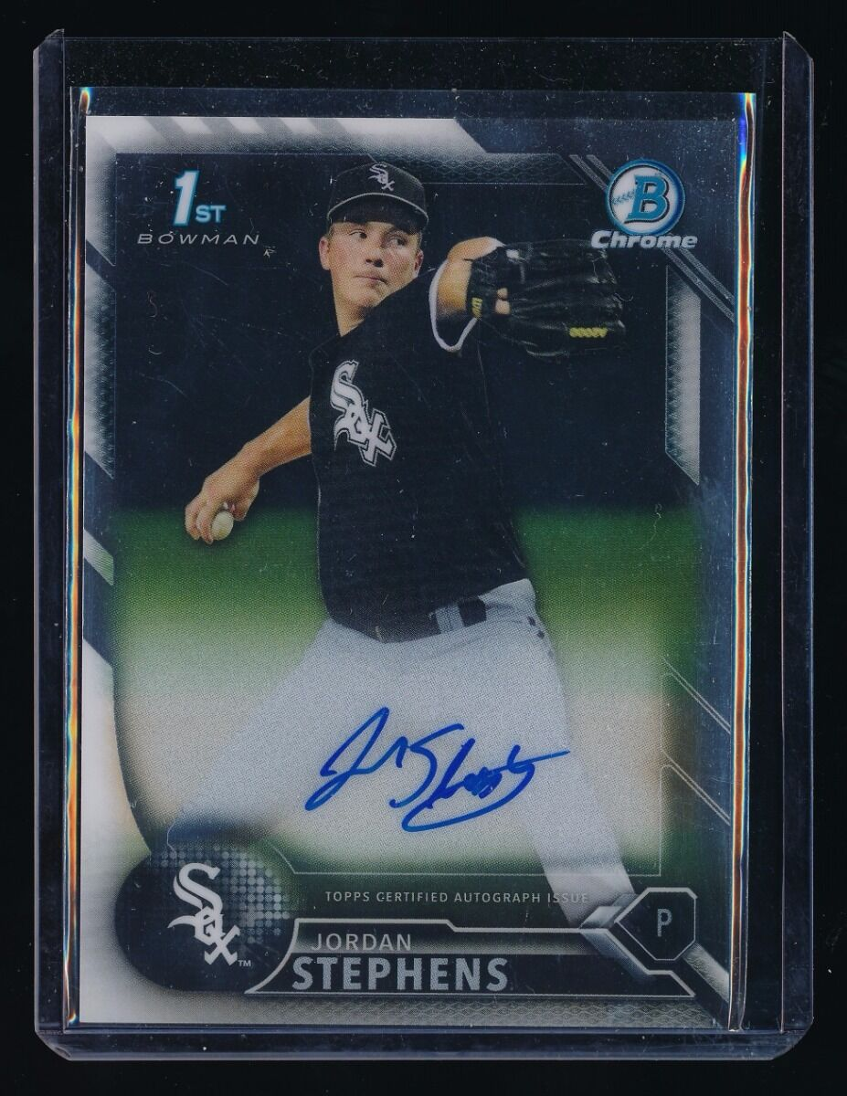 JORDAN STEPHENS 2016 BOWMAN CHROME PROSPECT AUTOGRAPH RC AUTO *CHICAGO WHITE SOX