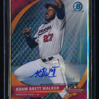 ADAM BRETT WALKER 2016 BOWMAN CHROME AFL FALL STARS AUTO 040/199 MINNESOTA TWINS