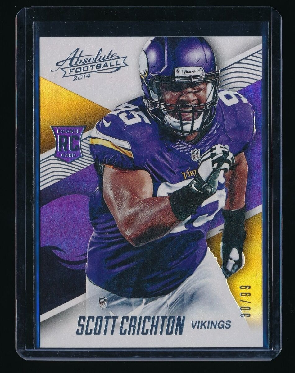 SCOTT CRICHTON 2014 ABSOLUTE SPECTRUM SILVER RC #130 30/99 MINNESOTA VIKINGS