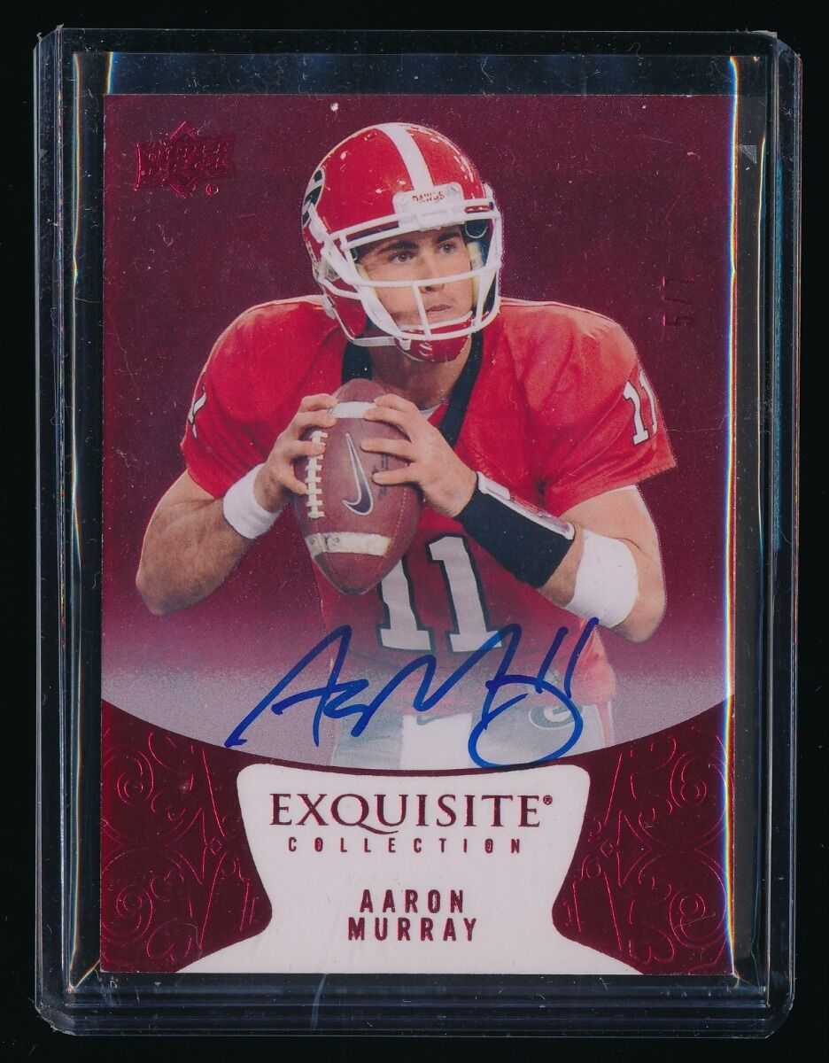 AARON MURRAY 2014 EXQUISITE COLLECTION RED SPECTRUM AUTOGRAPH RC AUTO 5/7