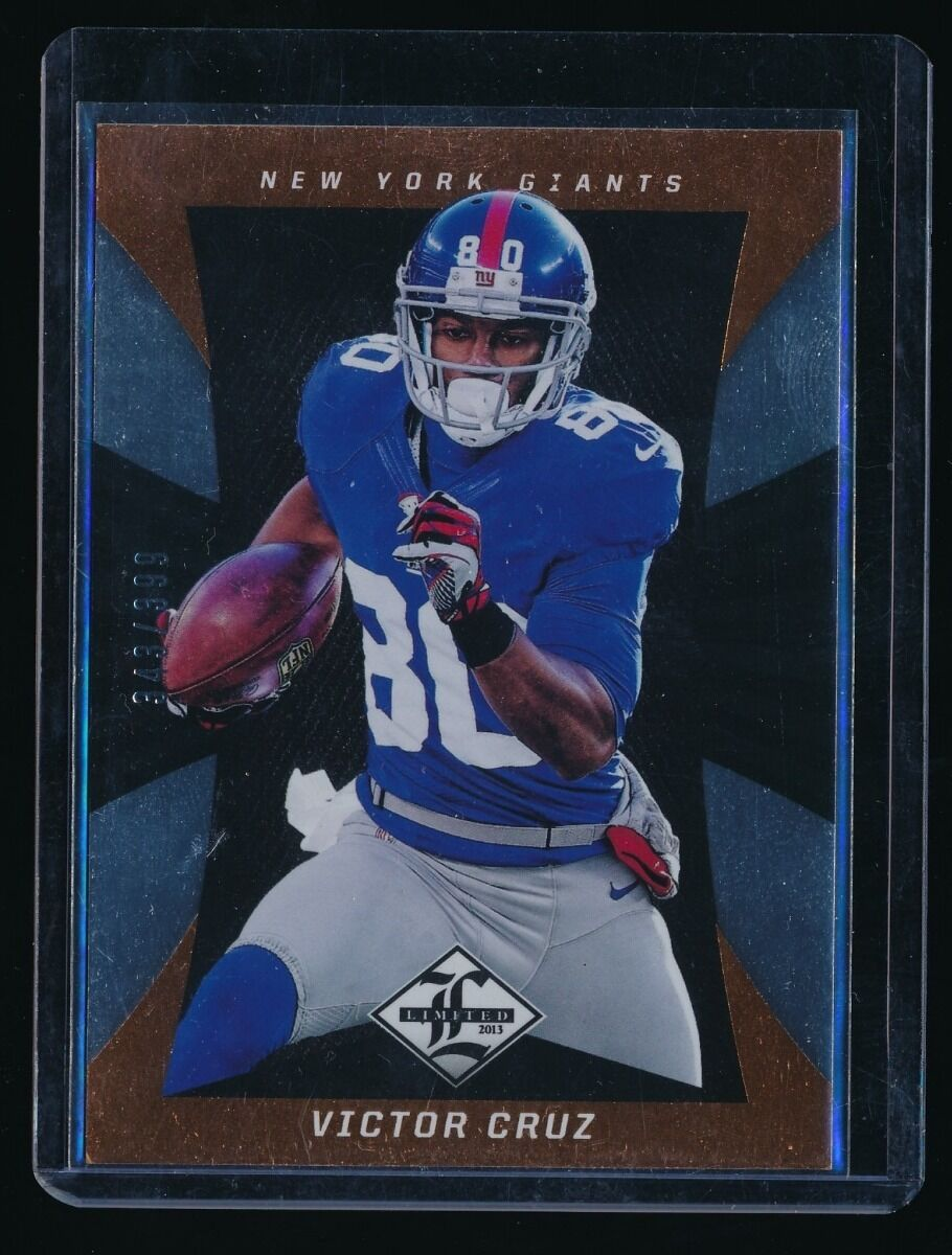 VICTOR CRUZ 2013 LIMITED #66 343/399 NEW YORK GIANTS