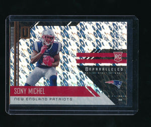 SONY MICHEL 2018 PANINI UNPARALLELED FLIGHT #218 RC *NEW ENGLAND PATRIOTS*