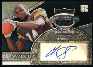 LIMAS SWEED 2008 BOWMAN STERLING BLACK REFRACTORS JSY AUTO RC 36/50 *STEELERS*