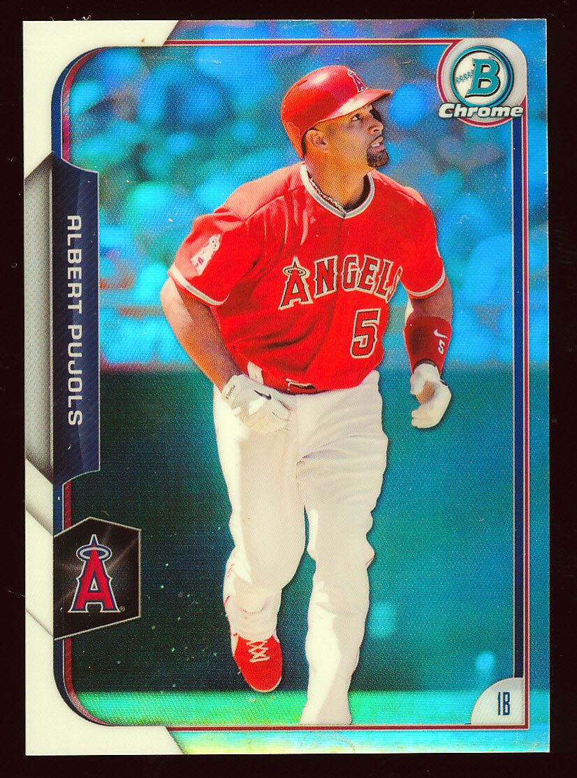 ALBERT PUJOLS 2015 BOWMAN CHROME REFRACTOR PARALLEL EDITION #D 444/499 *ANGELS*