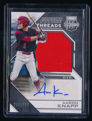 AARON KNAPP 2016 ELITE EXTRA EDITION FUTURE THREADS SILHOUETTE JERSEY AUTO /299