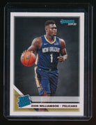 ZION WILLIAMSON 2019-20 DONRUSS #201 RR RC *NEW ORLEANS PELICANS* (P)