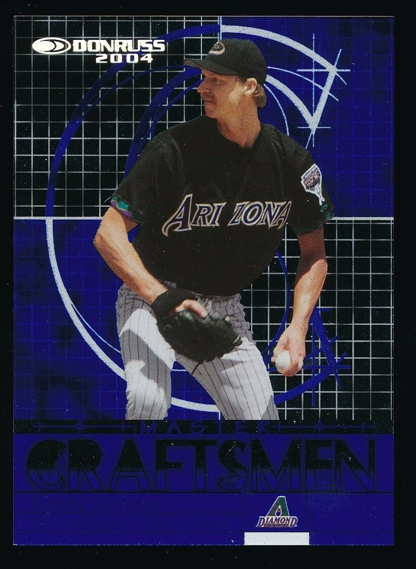 RANDY JOHNSON 2004 DONRUSS MASTER CRAFTSMEN REFRACTORS 028/150 *DIAMONDBACKS*