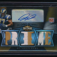 JASON SMITH 2009 TOPPS TRIPLE THREADS ROOKIE PATCH RC AUTO PRIME 10/30 *RAMS*