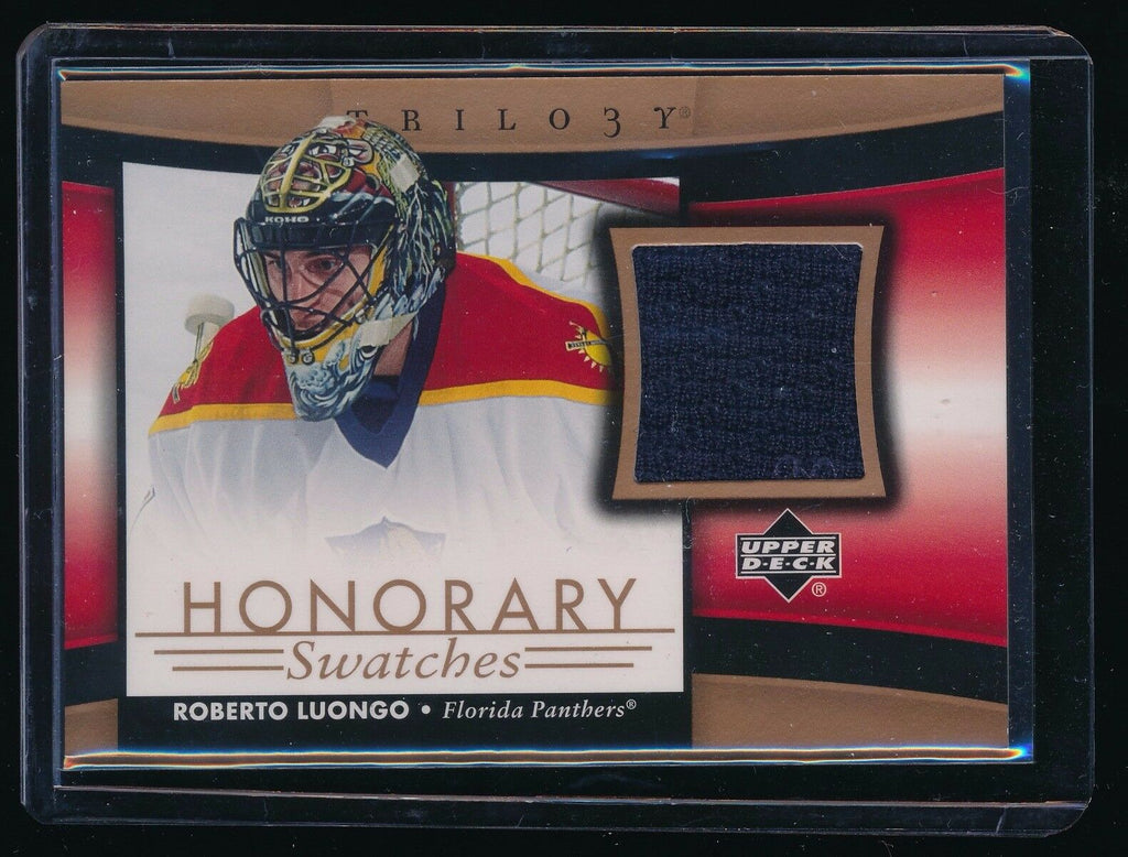 ROBERTO LUONGO 2005-06 UPPER DECK TRILOGY HONORARY SWATCH JERSEY FLORIDA PANTHER