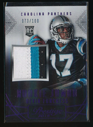 DEVIN FUNCHESS 2015 PRESTIGE JUMBO JERSEY RC PATCH PURPLE 073/100 *PANTHERS*
