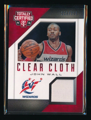 JOHN WALL 2014-15 TOTALLY CERTIFIED CLEAR CLOTH JERSEY RED 213/299 *WIZARDS*