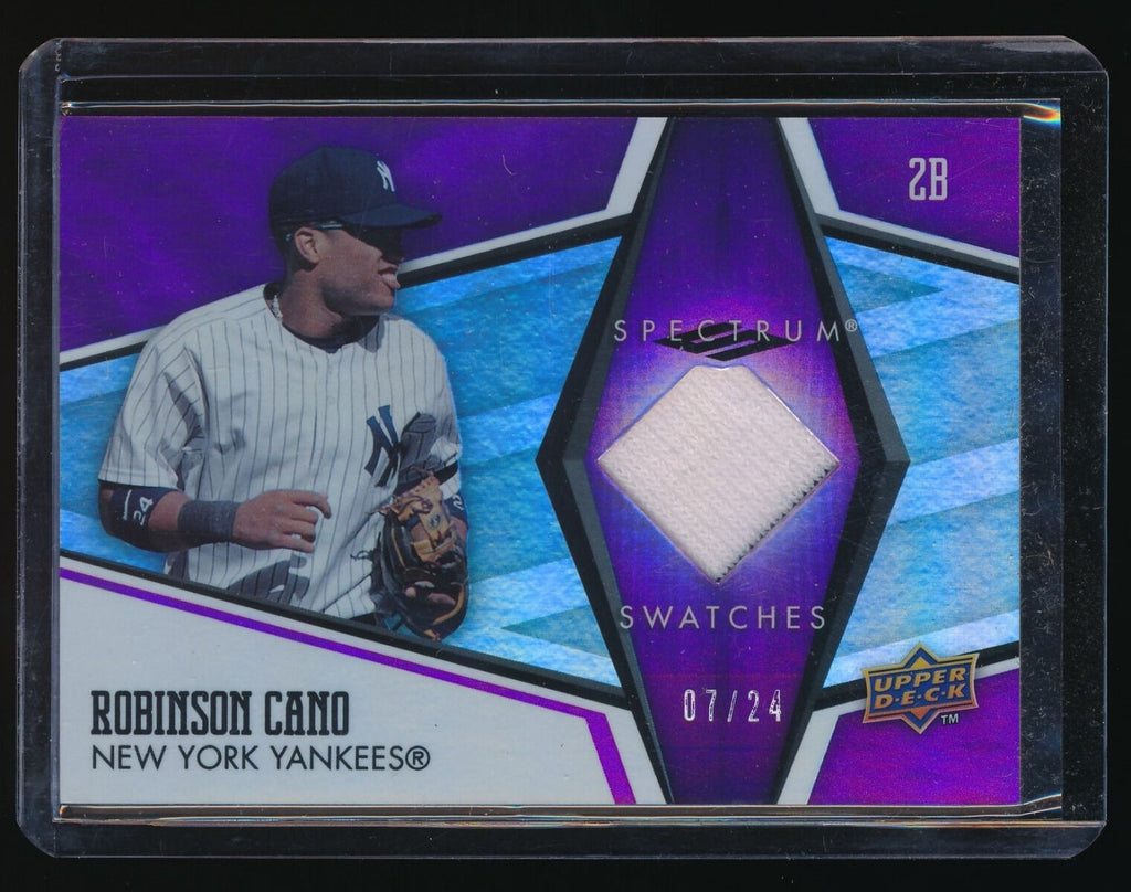 ROBINSON CANO 2008 UPPER DECK SPECTRUM SWATCH PURPLE 07/24 *SEATTLE MARINERS*