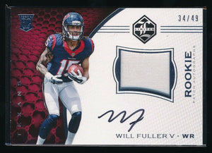 WILL FULLER V 2016 LIMITED SILVER SPOTLIGHT PATCH RC AUTO 34/49 *HOUSTON TEXANS*