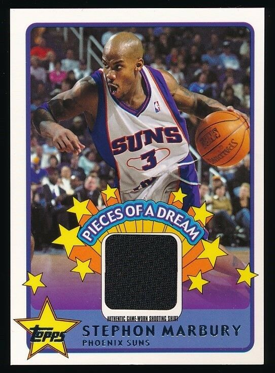 STEPHON MARBURY 2003-04 TOPPS PIECES OF A DREAM SHIRT #PDSM *PHOENIX SUNS*