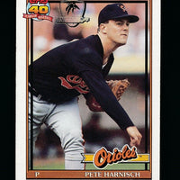 PETE HARNISCH 1991 TOPPS 40 YEARS OPERATION DESERT SHIELD #179 *ORIOLES*