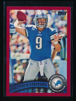MATTHEW STAFFORD 2011 TOPPS RED #86 41/77 DETROIT LIONS