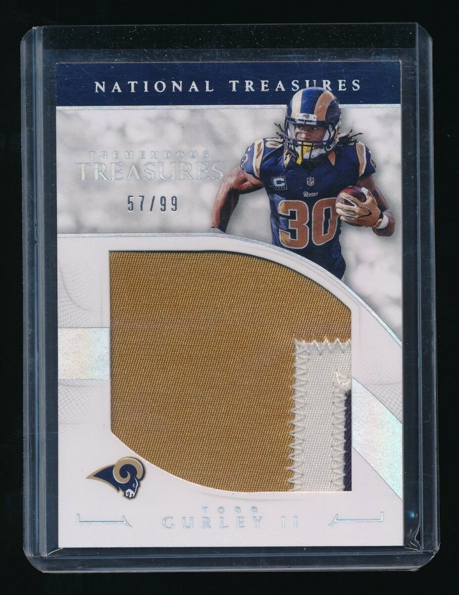 TODD GURLEY II 2016 PANINI NATIONAL TREASURES TREMENDOUS TREASURES PATCH 57/99