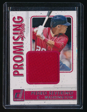 PEDRO SEVERINO 2017 DONRUSS PROMISING PROS RC JERSEY *WASHINGTON NATIONALS*