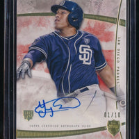 YANGERVIS SOLARTE 2014 TOPPS SUPREME AUTOGRAPH RED RC AUTO 1/10 SAN DIEGO PADRES