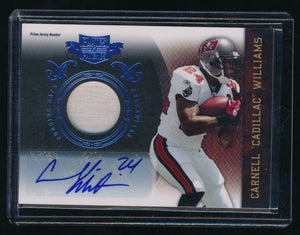 CADILLAC WILLIAMS 2010 PANINI PLATES AND PATCHES JERSEY PATCH AUTO 2/5 TAMPA BAY