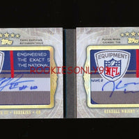 ROBERT GRIFFIN & KENDALL WRIGHT 2012 TOPPS FIVE STAR NFL LOGO PATCH TAG AUTO 1/1
