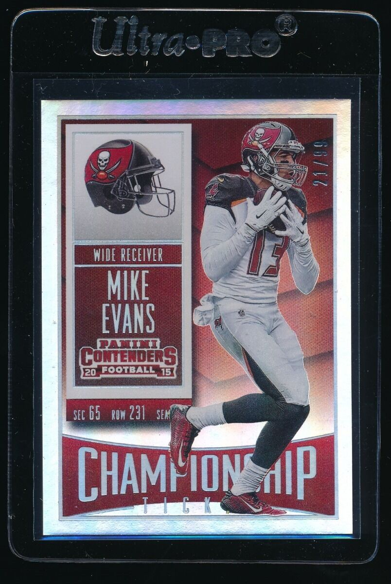 MIKE EVANS 2015 PANINI CONTENDERS CHAMPIONSHIP TICKET 21/99 TAMPA BAY BUCCANEERS