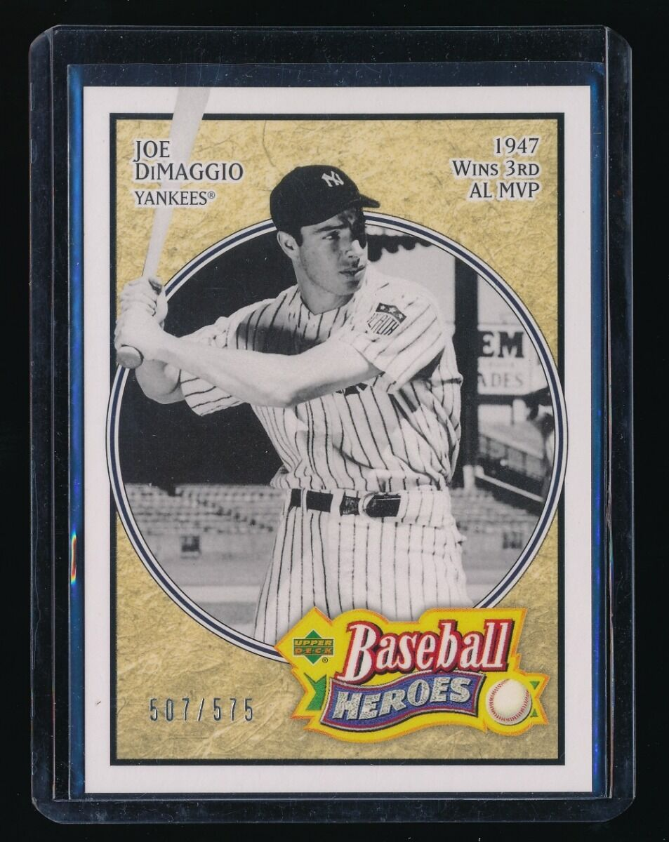 JOE DIMAGGIO 2005 UPPER DECK BASEBALL HEROES 507/575 *NEW YORK YANKEES*
