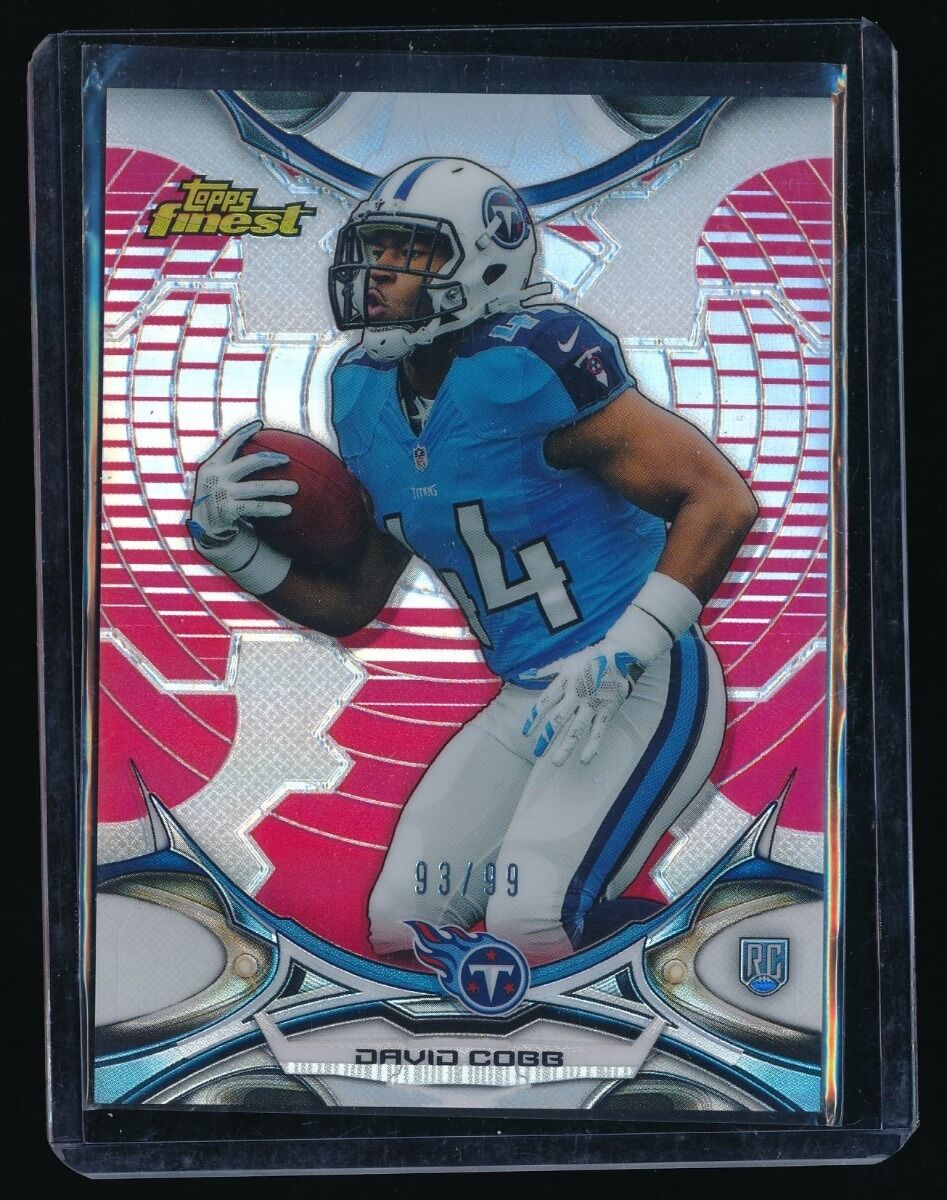 DAVID COBB 2015 FINEST RED RC REFRACTOR 93/99 TENNESSEE TITANS