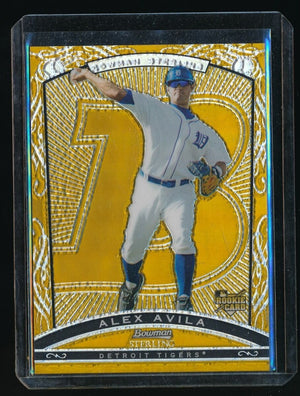 ALEX AVILA 2009 BOWMAN STERLING RC GOLD REFRACTOR 08/50 DETROIT TIGERS