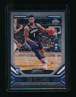 ZION WILLIAMSON 2019-20 PANINI CHRONICLES #169 PLAYBOOK RC *PELICANS* (A)