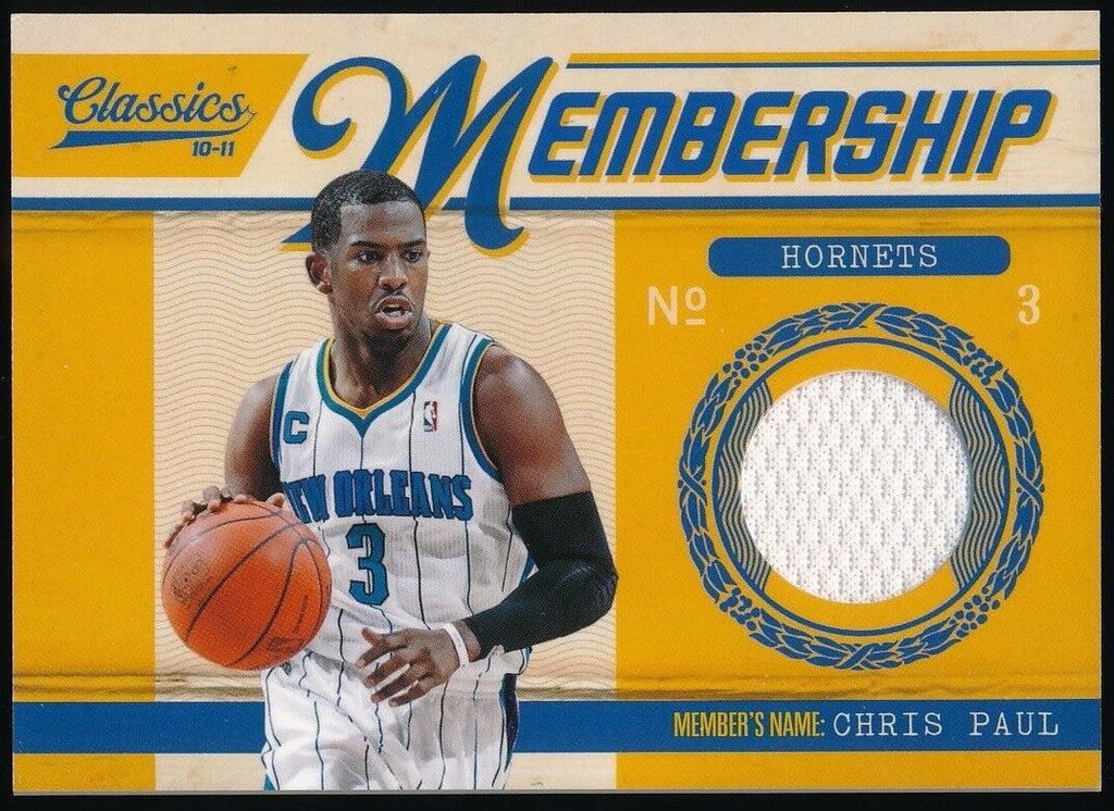 CHRIS PAUL 2010-11 PANINI CLASSICS MEMBERSHIP MATERIALS JERSEY 405/499 *ROCKETS*