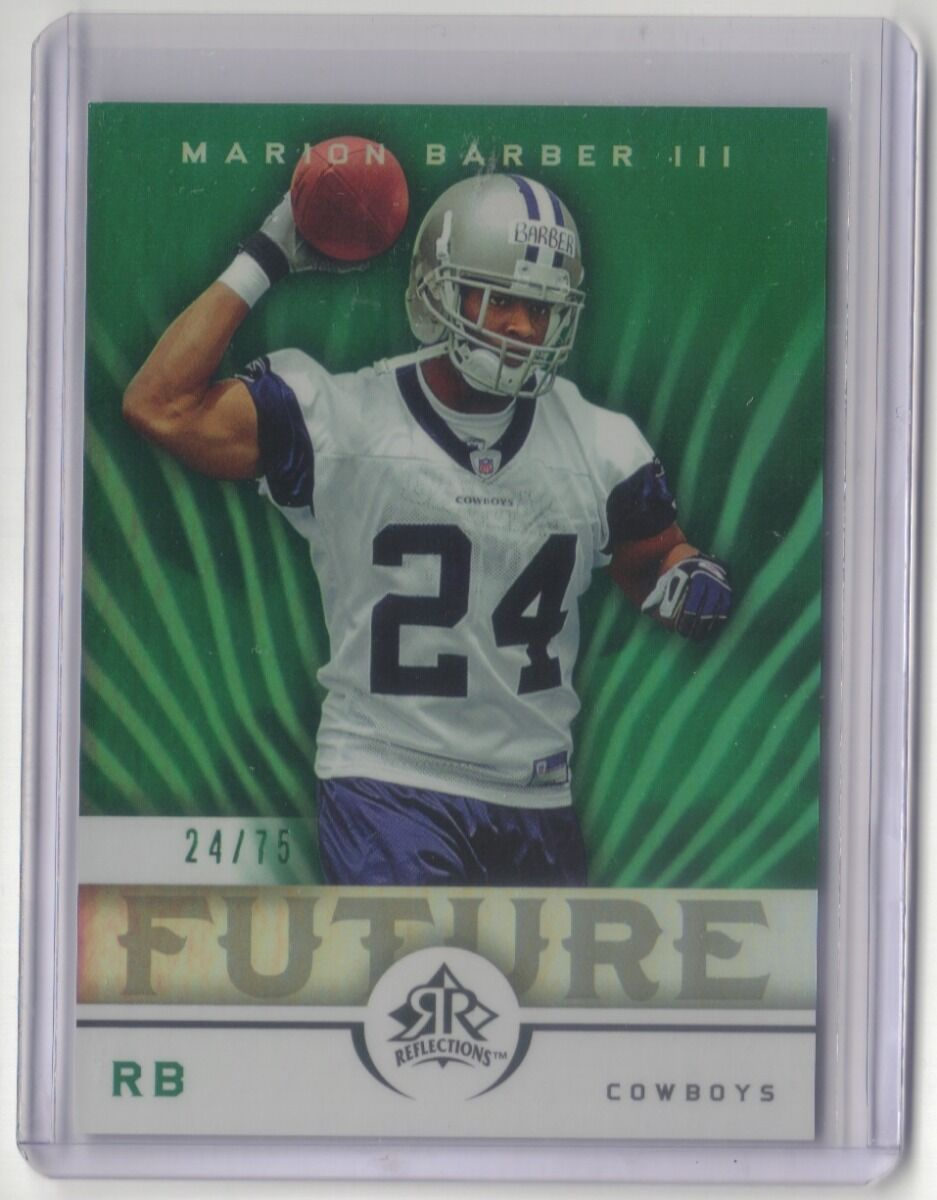 MARION BARBER 2005 REFLECTIONS GREEN RC 24/75 DALLAS COWBOYS