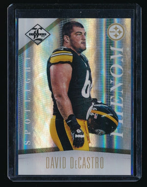 DAVID DECASTRO 2012 LIMITED RC GOLD SPOTLIGHT 14/25 PITTSBURGH STEELERS