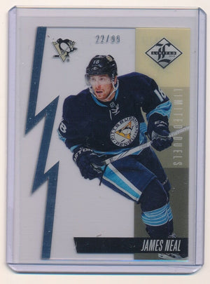 JAMES NEAL 2012-13 LIMITED DUELS SILVER #LD15B 22/99 PITTSBURGH PENGUINS