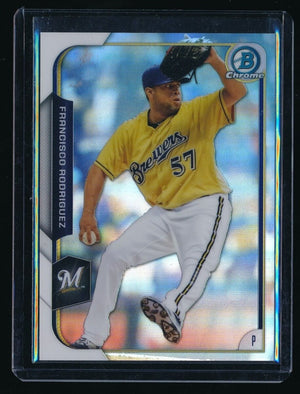 FRANCISCO RODRIGUEZ 2015 BOWMAN CHROME REFRACTOR 178/499 MILWAUKEE BREWERS