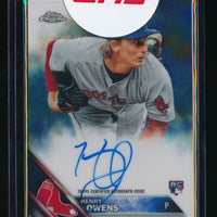 HENRY OWENS 2016 TOPPS CHROME ROOKIE AUTOGRAPH #RAHOW *BOSTON RED SOX*