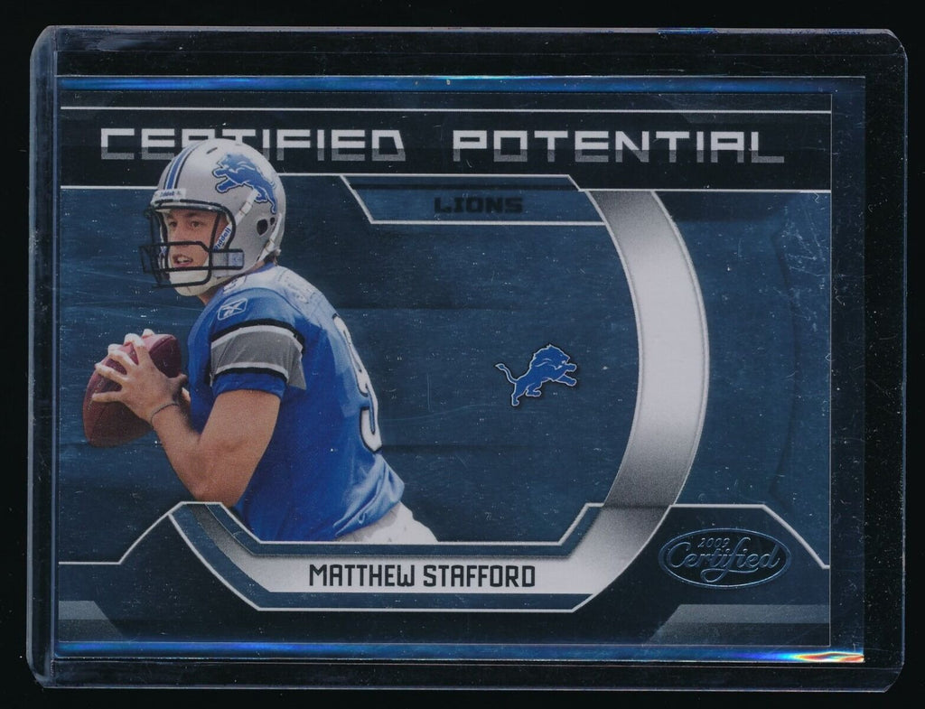 MATTHEW STAFFORD 2009 CERTIFIED CERTIFIED POTENTIAL RC 0926/1000 DETROIT LIONS